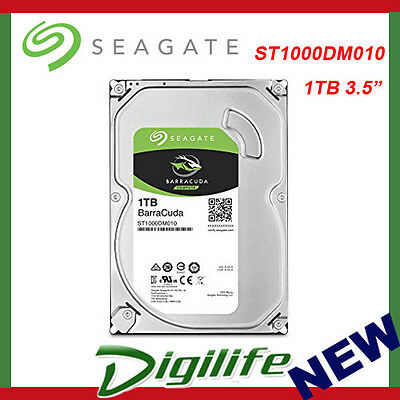 "Seagate 1TB BarraCuda 3.5"" SATA 3 Desktop Internal Hard Drive FACTORY SEALED"