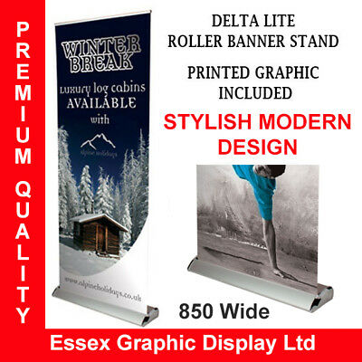 Premium Delta Lite Banner Exhibition Stand 850Mm Inc High Quality Graphic