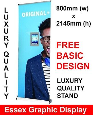 High Quality 800mm Original Plus + Roller Banner Stand With Printed Graphic