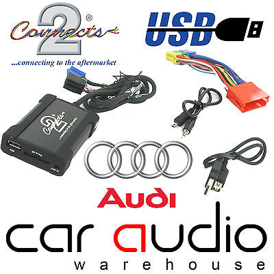 Audi A4 1997  -2005 Concert Car Stereo USB SD AUX Interface Adaptors CTAADUSB003