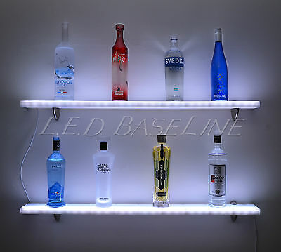 "32"" Floating Display Shelf with LED color changing lights, Wall Display Shelving"