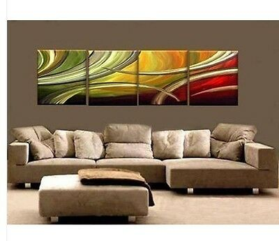New Modern Abstract Huge Wall Art Oil Painting On Canvas 4pcs (no framed)
