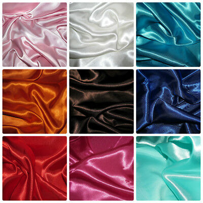 Satin Silky Fabric Plain Dress & Craft Material 150cm Wide £2.65 per metre