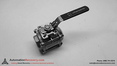 """J-FLOW CF8M CONTROL VALVE 2"""" 1000 PSI WITH TURNING ON/OFF LEVER, NEW*"""