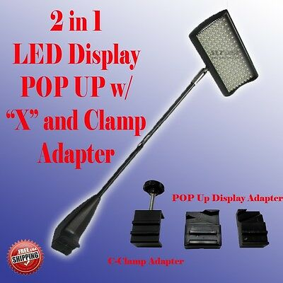LED Display Light POP UP Tension Booth Panel X and Clamp  Las Vegas Approved 156
