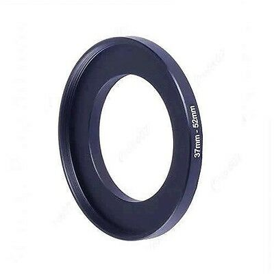 37mm-52mm 37-52 mm 37 to 52 Step Up Lens Ring Adapter Filter Metal Black