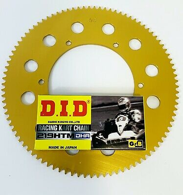 DID DHA Chain 104 Link & Sprocket for Kart 219 - Best Price- TKM - Rotax -
