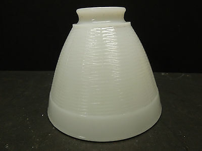 "VINTAGE MILK GLASS GLOBE LIGHT FIXTURE, 6"" DIAMETER, 5"" DEEP, 2 1/4"" Base"