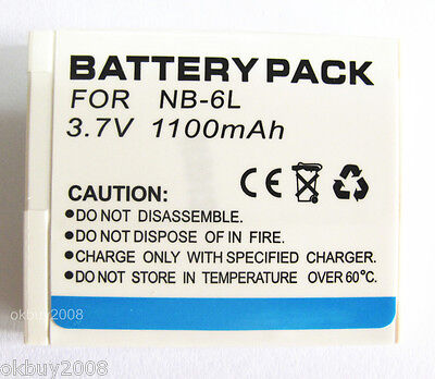 NB-6L Battery for Canon PowerShot SD1200 IS SD1300 IS SD4000 IS Digital Camera