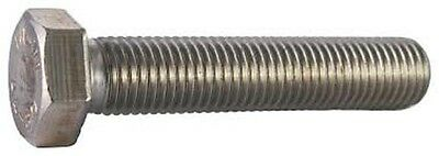 "Stainless Steel  1/4-20 x 1/2"" Hex Bolt 10 Pack"