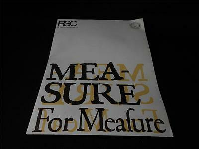 Royal Shakespeare Company Present Mea - Sure For Meafure Booklet