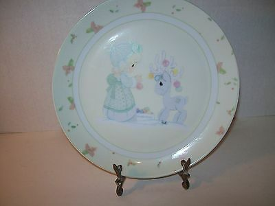 Precious Moments~2006~Holiday Plate~Ornaments With Antique Type Plate Stand~M4