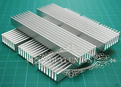 5pcs x 100*25*10mm Aluminum Heat Sink Chip for IC LED Power Transistor