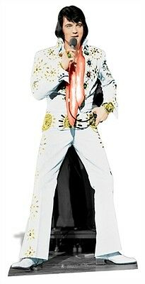 Elvis Presley The King Vegas White Suit Cardboard Fun Cutout/Figure 178cm Tall