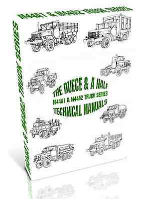 """M44A1 & M44A2 """"Deuce & a half"""" M35 Series Truck Manuals on DVD - Many Editions"""