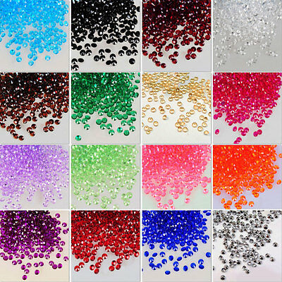 200x 4.5~10mm Acrylic Crystal Diamond Confetti Party Decoration Table Scatter