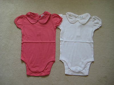 New Mini Baby Boden Bodysuit Playsuit 0-24 Broderie Anglais Peter Pan Collar