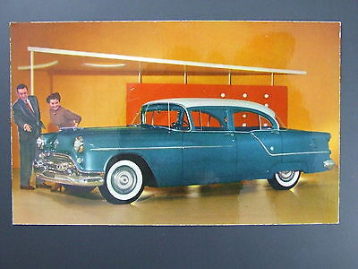 1954 Oldsmobile Super 88 Sedan Advertising Postcard Dempsey Sales Tracy MN