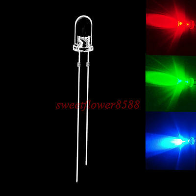 500 pcs 5mm RGB Slow Flash Rainbow MultiColor Red Green Blue LED Free Shipping