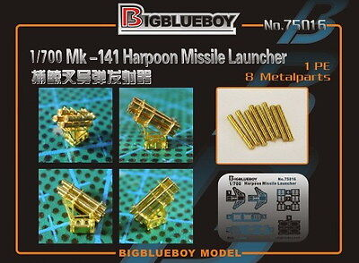 Photo-Etched PE 1/700 Mk-141 Harpoon Missile Launcher 75016