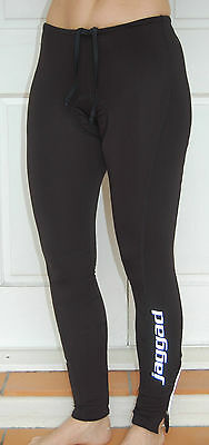 Jaggad Long Cycling Zip Fleece Knick Pants bike Men Women Black S M L XL XXL #60
