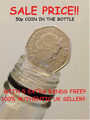 50p COIN IN THE BOTTLE MAGIC TRICK / FOLDING COIN TRICK 50 PENCE