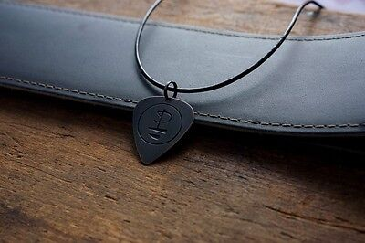 Hand Made Etched Copper Guitar Pick Necklace - Pink Floyd Symbol - Division Bell