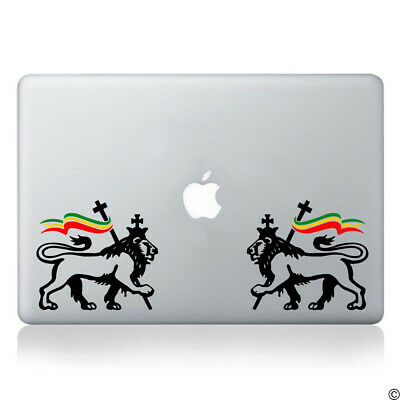 Lion of judah pair with rasta flag vinyl decal reggae marley car sticker k157