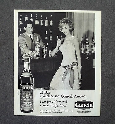 G795 - Advertising Pubblicità - 1962 - GANCIA VERMOUTH AMARO TEST. A. GAMBINERI