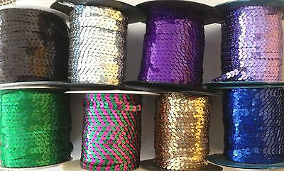 6Mm Strung String Holographic Hologram Flat Sequins Art Craft Costume Trimmings