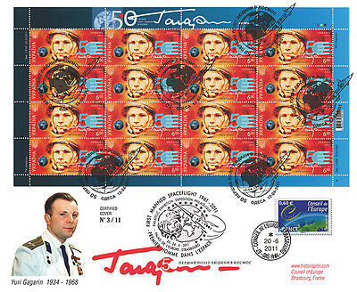 "Maxi FDC UKRAINE ""GAGARIN - VOSTOK-1 - 50 years First Manned Spaceflight"" 2011"