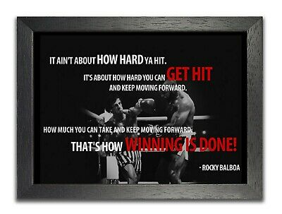 Rocky Balboa It Ain't How Hard Ya Hit Most Famous Quote Picture Photo Poster