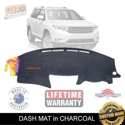 DASH MAT to Suit TOYOTA KLUGER GSU XU40 1/2008-12/2013 DM1064 CHARCOAL