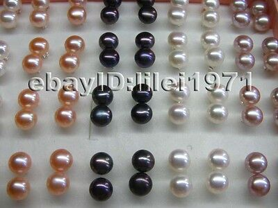 wholesale 20pairs AAA9-10mm luster FW pearl&S925 earring