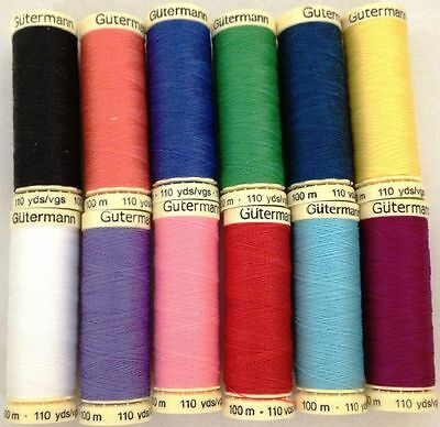 Gutermann Sew All Thread 100% Polyester 100M Reel Hand And Machine Sewing