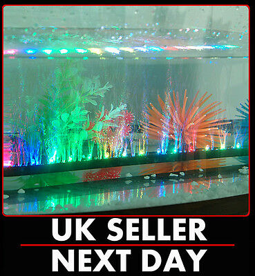 Multicolour Led Airstone Bubble Aquarium Light Fisk Tank Multi Underwater