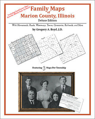 Family Maps Marion County, Illinois Genealogy IL Plat