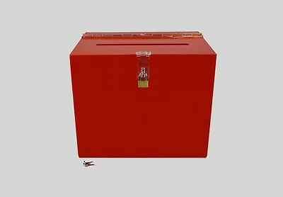 Suggestion Box / Collection Box Lockable - BB0005 Red