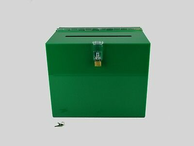 Suggestion Box / Collection Box Lockable - BB0005 Green