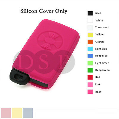 Silicone Cover Holder fit for TOYOTA Avalon Smart Remote Key Case Fob 12C RS