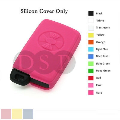 Silicone Cover Holder fit for TOYOTA Avalon Smart Remote Key Case Fob 12C PK