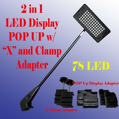 78 LED Display Light POP UP Tension Booth Panel X and Clamp  Las Vegas Approved
