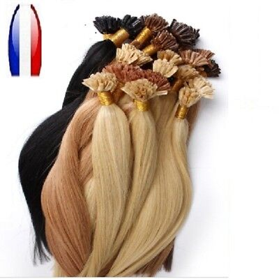 50, 100, 150 Extensions Pose A Froid Cheveux 100% Naturels Qualite Remy 49 Cm 1G