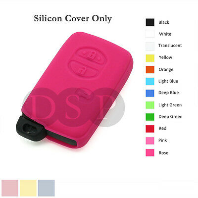 Silicone Cover Holder fit for TOYOTA Smart Remote Key Case Fob Entry 3 B 12C RS