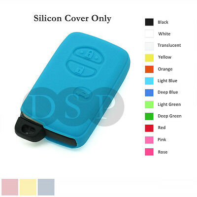 Silicone Cover Holder fit for TOYOTA Smart Remote Key Case Fob Entry 3 B 12C LB