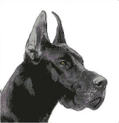 Great Danes~counted cross stitch pattern #1004~Vintage Animals Dogs Graph Chart