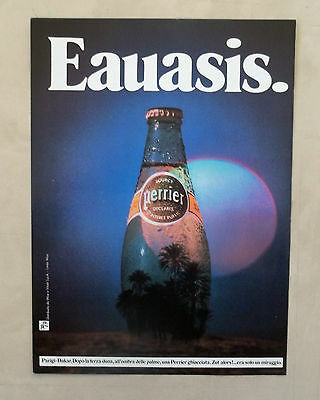 E106 - Advertising Pubblicità - 1987 - SOURCE PERRIER DECLAREE EAUASIS