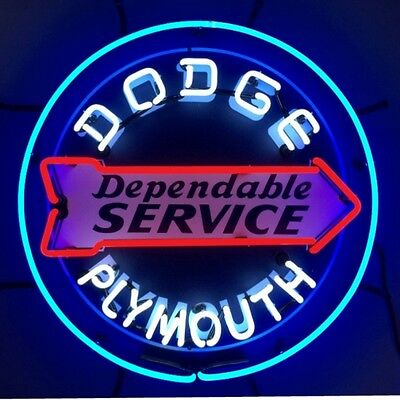 Neon sign  Dodge Plymouth Truck Service Garage wall lamp 100th anniversary
