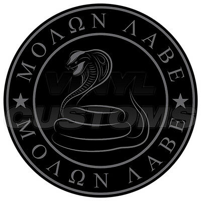 """4"""" Molon Labe Decal Sticker Dont Tread On Me Gadsden Snake Tactical Subdued"""
