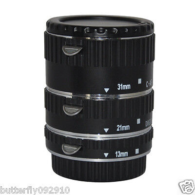 Auto Focus Macro AF Automatic Extension Tube Set For Canon EOS EF 7D 5D Mark II